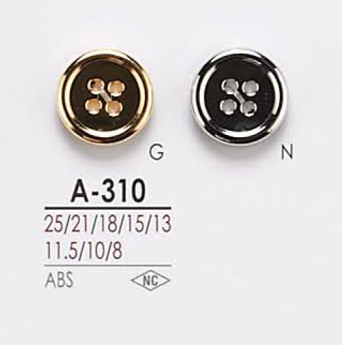 A310 4つ穴 メタルボタン アイリス/オークラ商事 - ApparelX アパレル資材卸通販