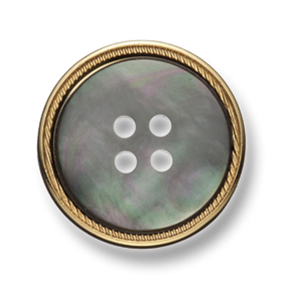 129 スーツ・ジャケット用メタルボタン 貝&真鍮 ゴールド ヤマモト(EXCY)/ヤマモト - ApparelX アパレル資材卸通販