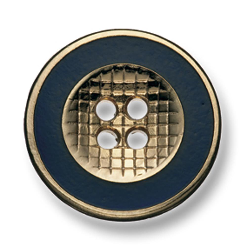 331 国産 スーツ・ジャケット用メタルボタン ゴールド/ネイビー ヤマモト(EXCY)/ヤマモト - ApparelX アパレル資材卸通販