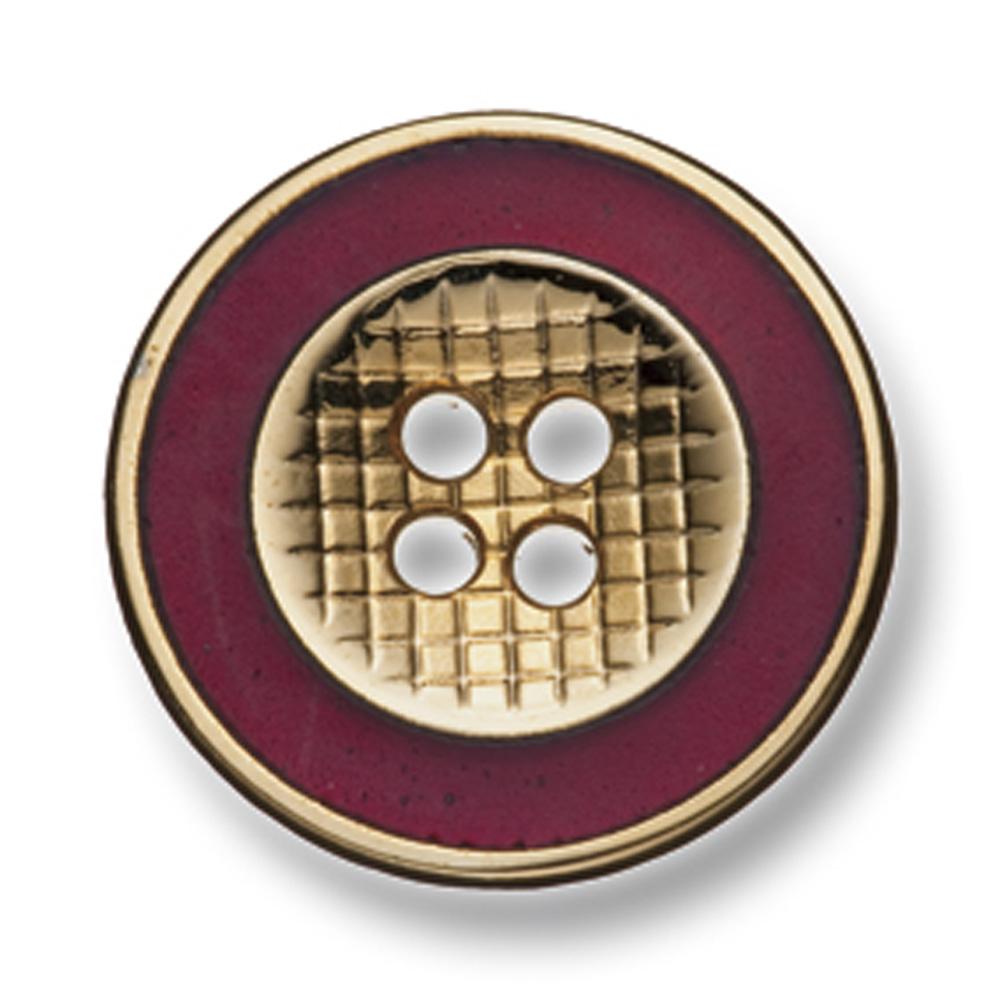 333 国産 スーツ・ジャケット用メタルボタン ゴールド/レッド ヤマモト(EXCY)/ヤマモト - ApparelX アパレル資材卸通販