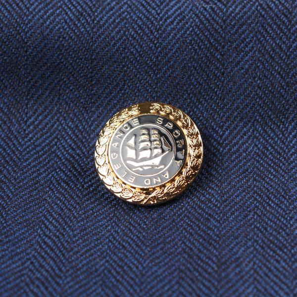 国産 スーツ・ジャケット用メタルボタン ゴールド/ブラック サブ画像