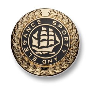 562 国産 スーツ・ジャケット用メタルボタン ゴールド/ブラック 小暮釦製作所/ヤマモト - ApparelX アパレル資材卸通販
