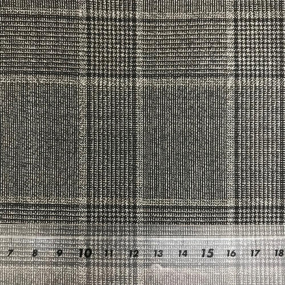 2512-8135 イタリア生地 カノニコ 大柄グレンチェック グレイッシュブラウン CANONICO/ヤマモト - ApparelX アパレル資材卸通販