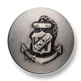 10A-S 国産 スーツ・ジャケット用メタルボタン シルバー 小暮釦製作所/ヤマモト - ApparelX アパレル資材卸通販
