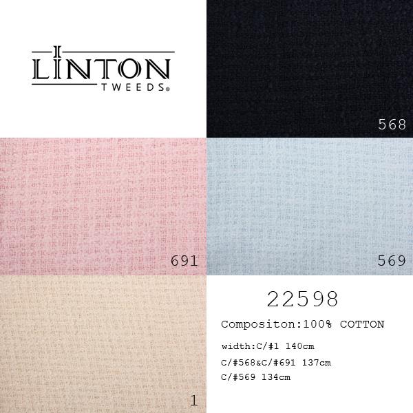 22598 LINTON リントン ツイード イギリス製生地 表地 LINTON/ヤマモト - ApparelX アパレル資材卸通販
