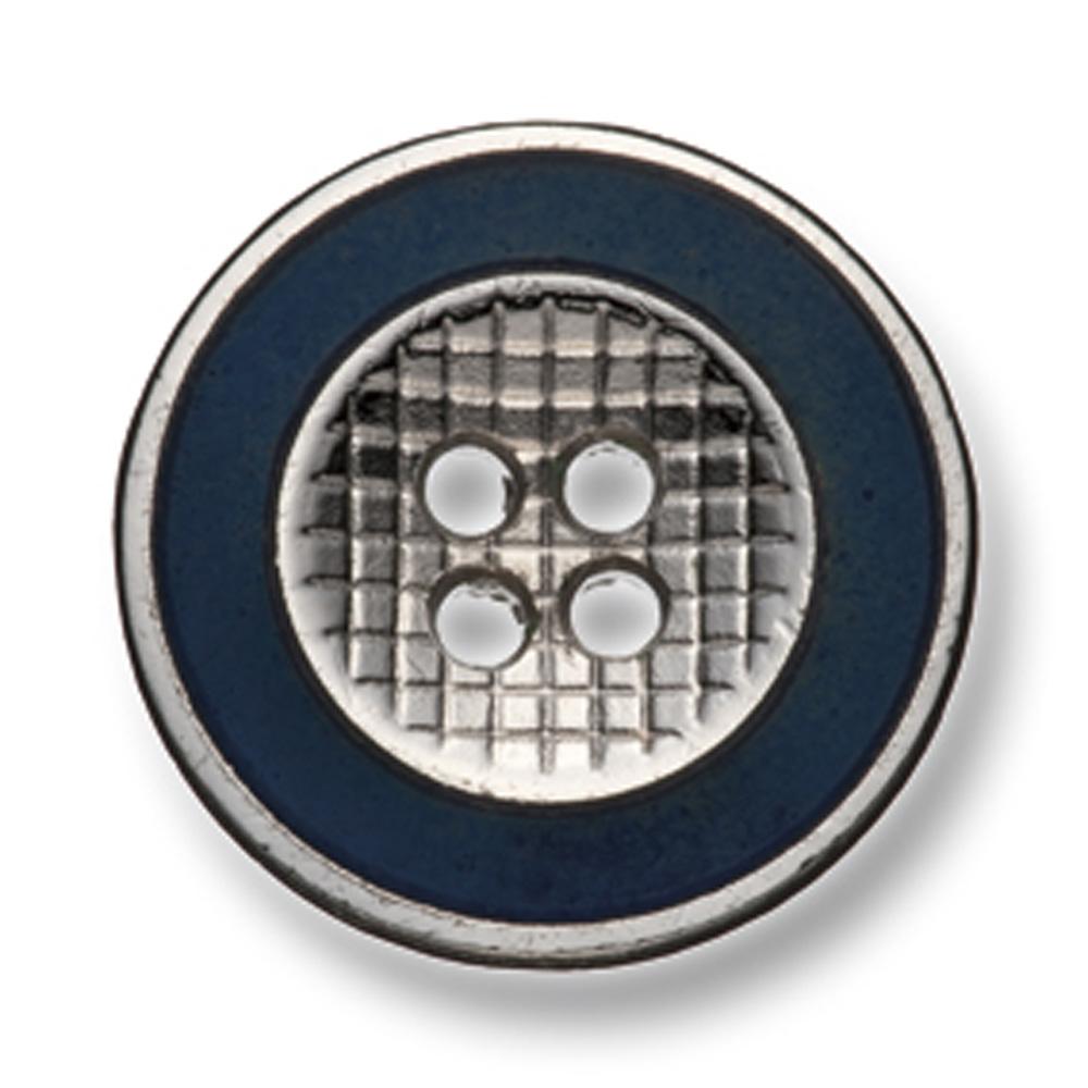 330 国産 スーツ・ジャケット用メタルボタン シルバー/ネイビー ヤマモト(EXCY)/ヤマモト - ApparelX アパレル資材卸通販