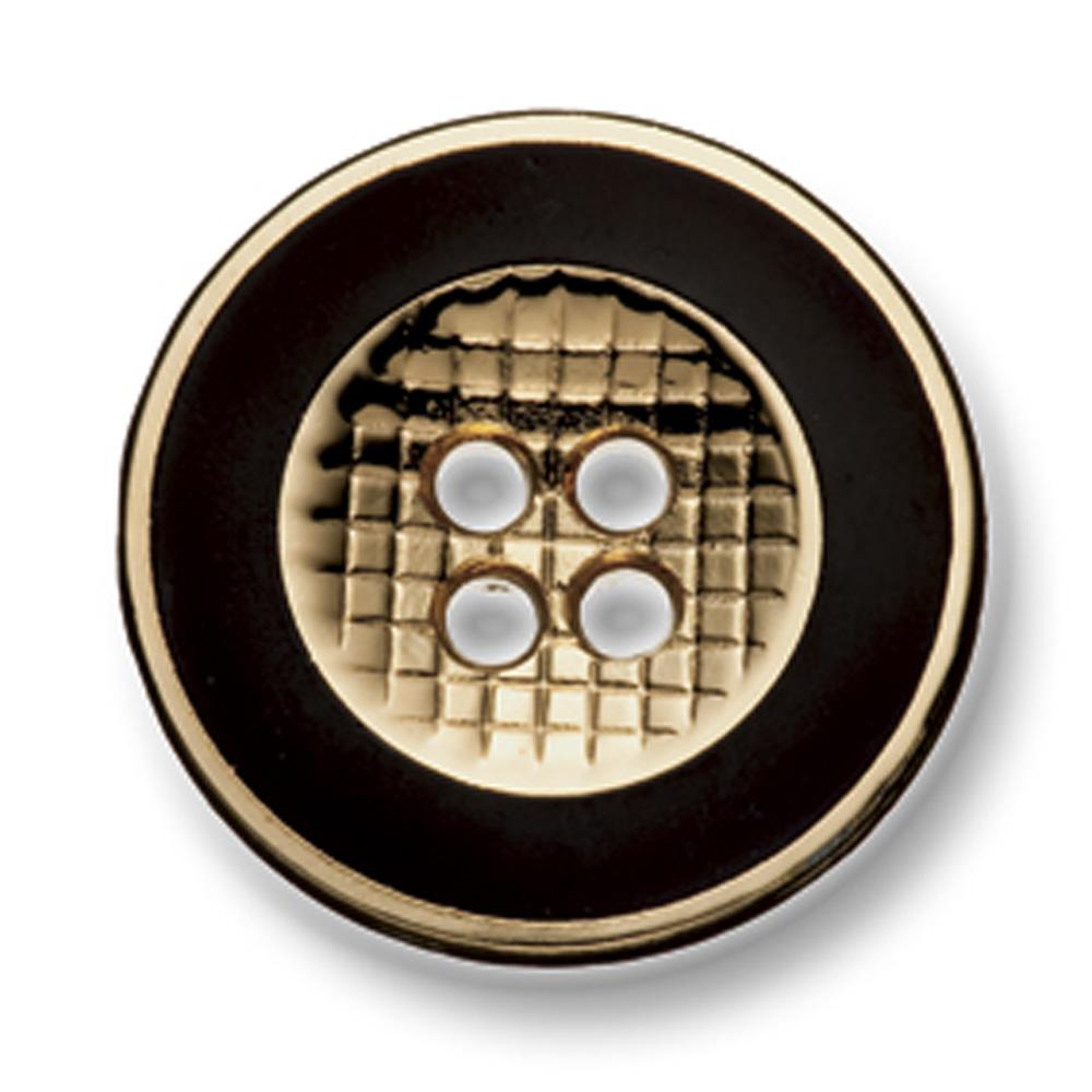 335 国産 スーツ・ジャケット用メタルボタン ゴールド/ブラック ヤマモト(EXCY)/ヤマモト - ApparelX アパレル資材卸通販