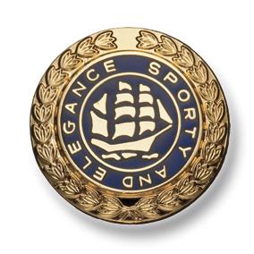 557 国産 スーツ・ジャケット用メタルボタン ゴールド/ネイビー 小暮釦製作所/ヤマモト - ApparelX アパレル資材卸通販