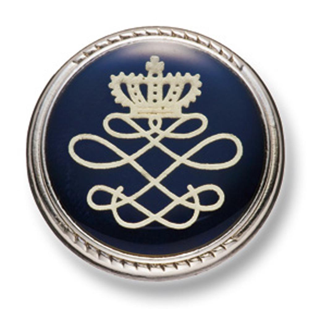 802 国産 スーツ・ジャケット向け メタルボタン シルバー/ネイビー ヤマモト(EXCY)/ヤマモト - ApparelX アパレル資材卸通販