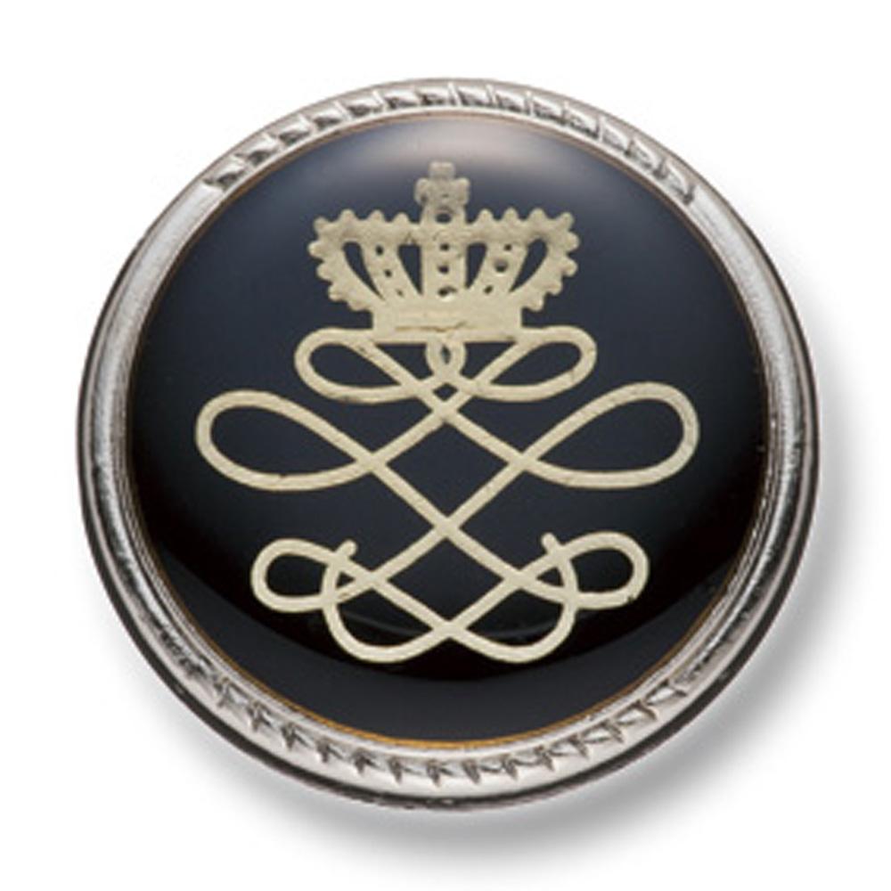 806 国産 スーツ・ジャケット向け メタルボタン シルバー/ブラック ヤマモト(EXCY)/ヤマモト - ApparelX アパレル資材卸通販