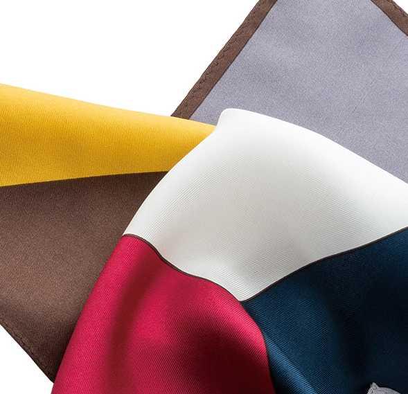 CF-200 日本製 綾織 16匁 シルク 6色チーフ ディープカラー[フォーマルアクセサリー] ヤマモト(EXCY)/ヤマモト - ApparelX アパレル資材卸通販