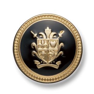 EX202 国産 スーツ・ジャケット用メタルボタン ゴールド/黒 ヤマモト(EXCY)/ヤマモト - ApparelX アパレル資材卸通販