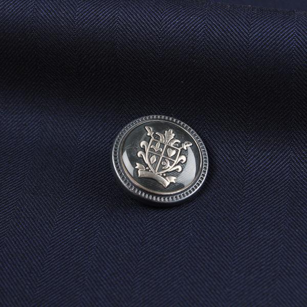 国産 スーツ・ジャケット用メタルボタン シルバー サブ画像