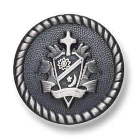 EX214 国産 スーツ・ジャケット用メタルボタン シルバー ヤマモト(EXCY)/ヤマモト - ApparelX アパレル資材卸通販