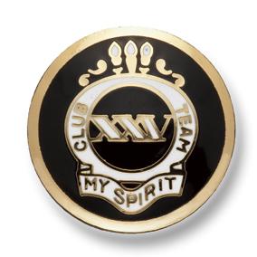 EX244 国産 スーツ・ジャケット用メタルボタン ゴールド/黒 ヤマモト(EXCY)/ヤマモト - ApparelX アパレル資材卸通販