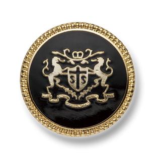 EX247 国産 スーツ・ジャケット用メタルボタン ゴールド/黒 ヤマモト(EXCY)/ヤマモト - ApparelX アパレル資材卸通販