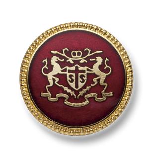 EX251 国産 スーツ・ジャケット用メタルボタン ゴールド/赤 ヤマモト(EXCY)/ヤマモト - ApparelX アパレル資材卸通販