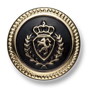 EX261 国産 スーツ・ジャケット用メタルボタン ゴールド/黒 ヤマモト(EXCY)/ヤマモト - ApparelX アパレル資材卸通販