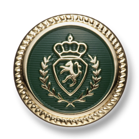 EX267 国産 スーツ・ジャケット用メタルボタン ゴールド/緑 ヤマモト(EXCY)/ヤマモト - ApparelX アパレル資材卸通販